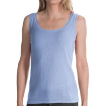 Brodie Lace Back Sweater Tank Top - Cashmere (For Women) in Little Boy Blue - Closeouts