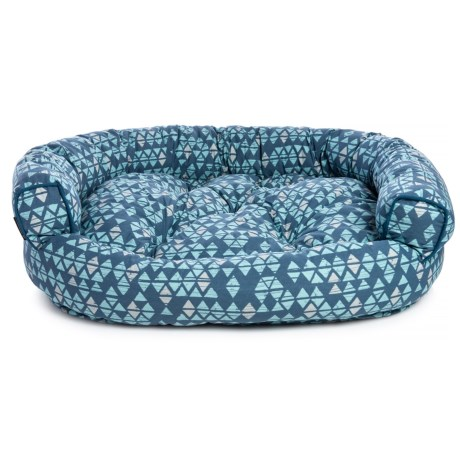 Image of Broken Triangles Round Couch Bolster Dog Bed - 48x36?