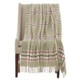 "Bronte by Moon Arncliffe Shetland Wool Throw Blanket - 55x72"""