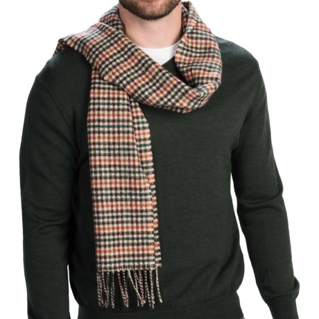 "Bronte by Moon Lambswool Scarf - 70x19"" (For Men and Women)"