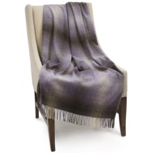 "Bronte by Moon Ombre Lambswool Throw Blanket - 55x72"" in Lavender - Closeouts"