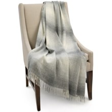 Bronte by Moon Ombre Lambswool Throw Blanket in Grey - Closeouts