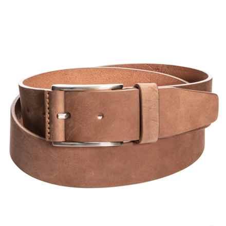 Bronzino Nubuck Jeans Belt (For Men) in Brown - Closeouts