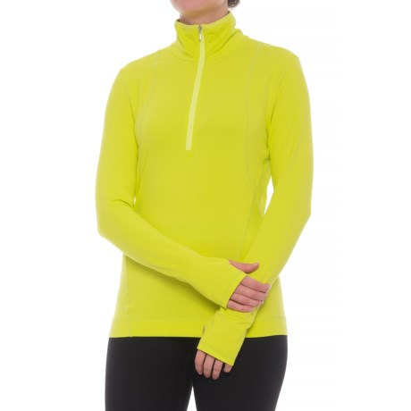 Image of Brooklyn Base Layer Top - Zip Neck, Long Sleeve (For Women)