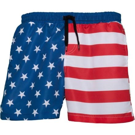 3a45bd6a19 Brooklyn Cloth Americana Split Volley Swim Trunks - Built-In Brief (For Big  Boys