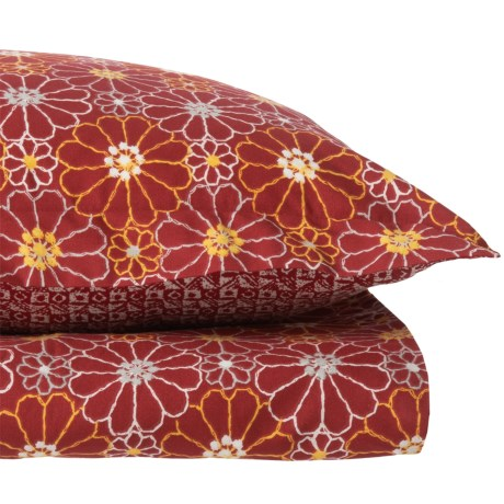 Brooklyn Flats Ceylon Duvet Set - Twin in Red