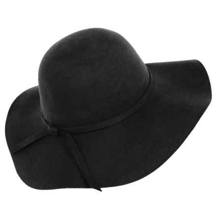 Brooklyn Hat Co. Floppy-Brim Felt Hat (For Women) in Black - Closeouts