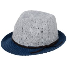 Brooklyn Hat Co. Paris Knit Fedora (For Women) in Grey/Blue - Closeouts