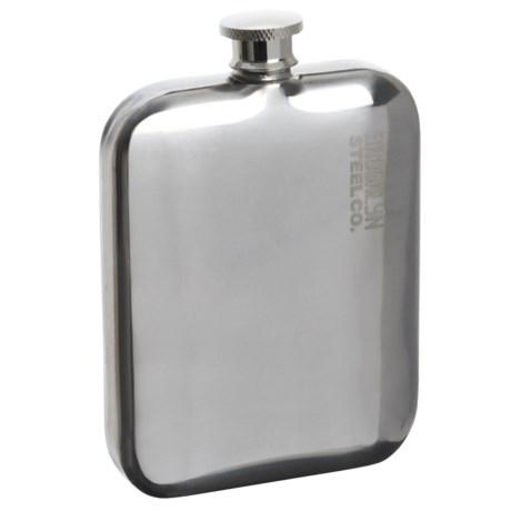 Brooklyn Steel Co. Stainless Steel Pocket Flask - 5 fl.oz., BPA-Free in Stainless Steel
