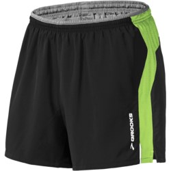 "Brooks 5"" Essential Run Shorts (For Men) in Midnight/Midnight Splatter Print"