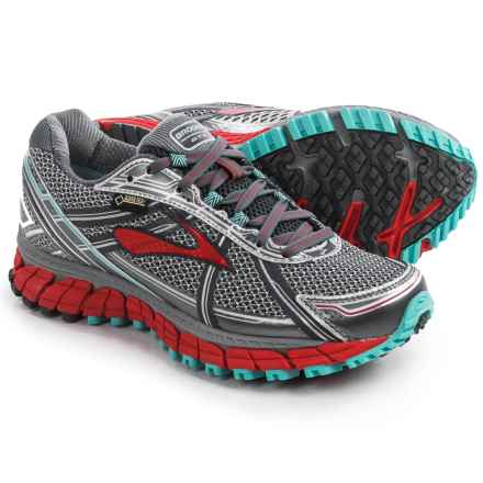 Brooks Adrenaline ASR 12 Gore-Tex® Trail Running Shoes (For Women) in Anthracite/Hibiscus/Capri - Closeouts