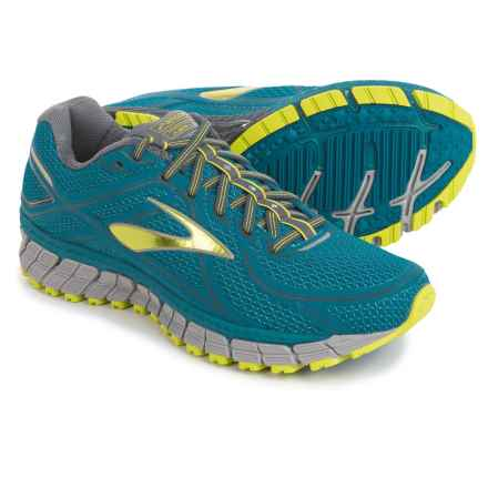 Brooks Adrenaline ASR 13 Trail Running Shoes (For Men) in Moroccan Blue/Lime Punch/Anthracite - Closeouts