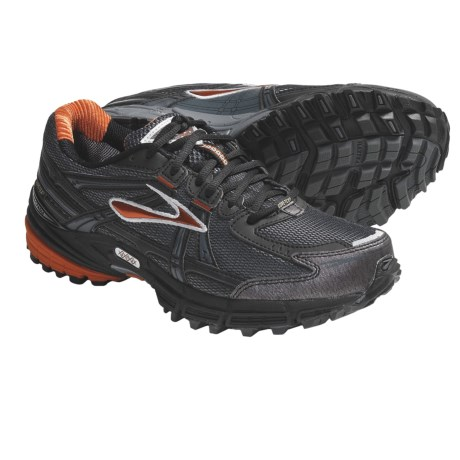 Brooks Adrenaline ASR Gore-Tex® Trail Running Shoes - Waterproof (For Men) in Cherry Tomato/Black/Silver/Shadow