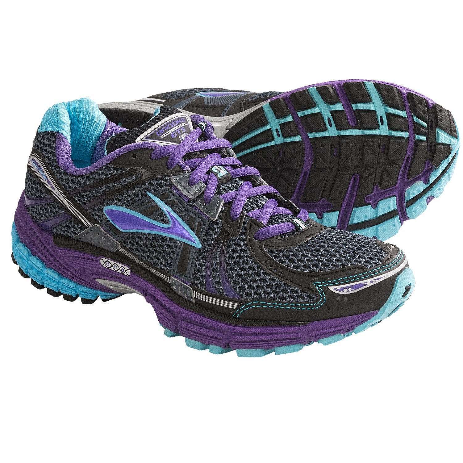 Brooks Adrenaline GTS 12 Running Shoes (For Women) in Ombre Blue/Black
