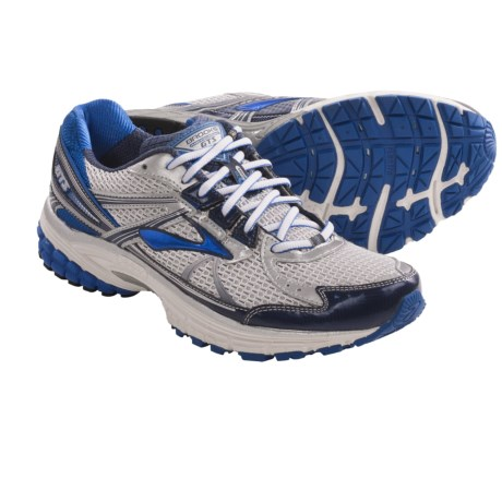 Brooks Adrenaline GTS 13 Running Shoes (For Men) in White/Obsidian/Black/Olympic/Silver