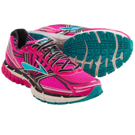 Brooks Adrenaline GTS 14 Running Shoes (For Women) in Pink Glow/Black