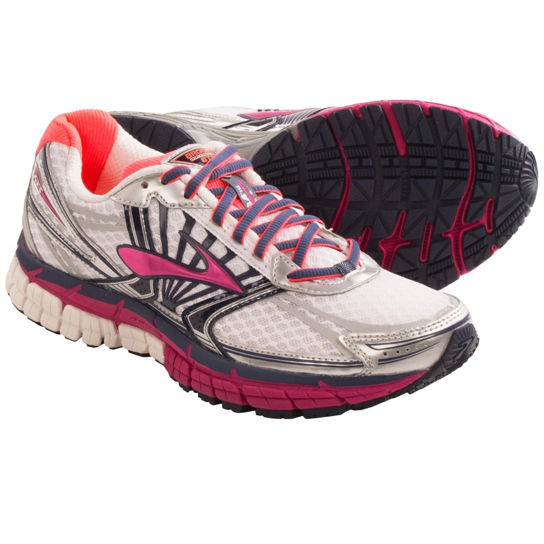 Brooks Adrenaline GTS 14 Running Shoes (For Women) in White/Fuschia