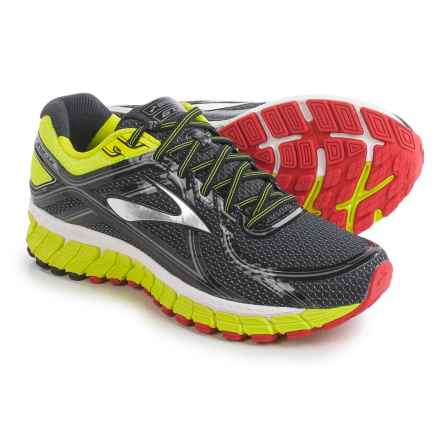 Brooks Adrenaline GTS 16 Running Shoes (For Men) in Black/Nightlife/High Risk Red - Closeouts
