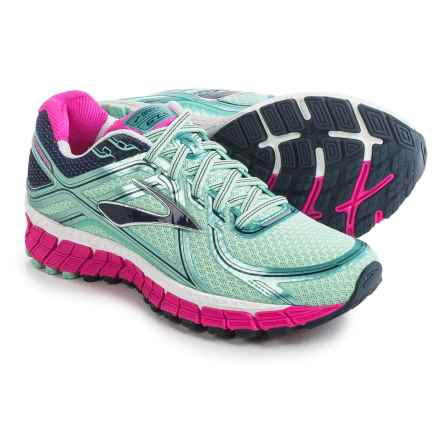 Brooks Adrenaline GTS 16 Running Shoes (For Women) in Blue Tint/Pink Glo/Peacoat - Closeouts