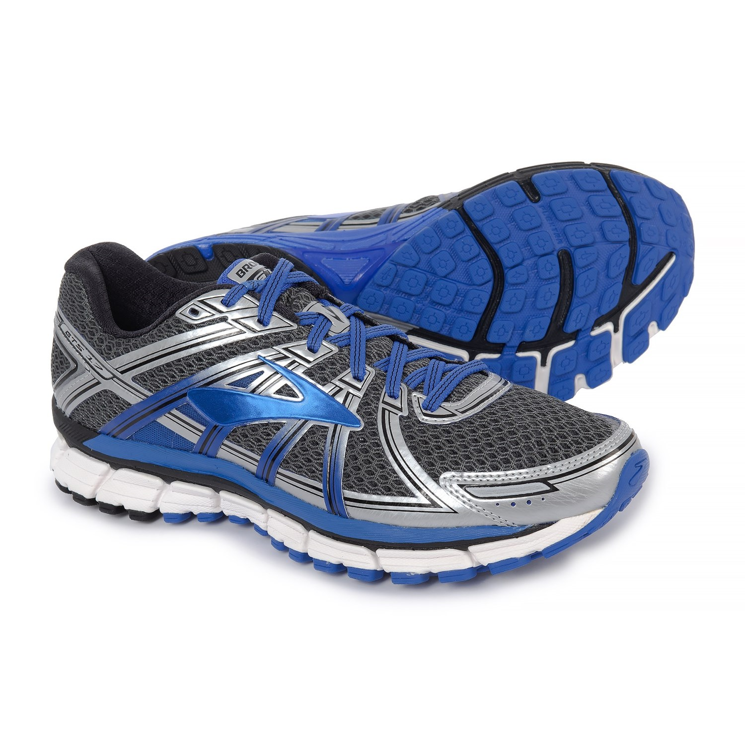 6a6aafce4f2 Brooks Adrenaline GTS 17 Running Shoes (For Men) in Anthracite Electric  Brooks Blue