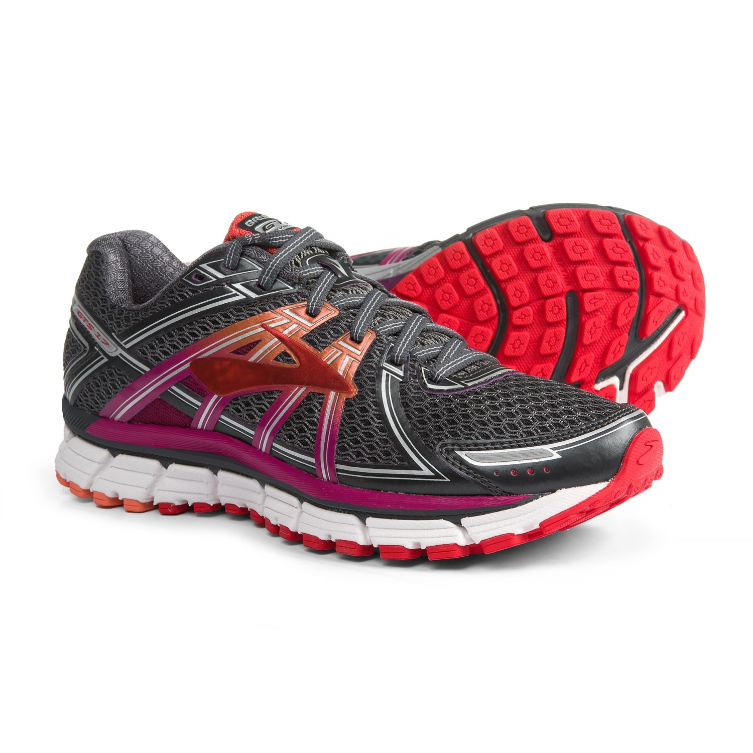 132bfb7e27783 Brooks Adrenaline GTS 17 Running Shoes (For Women) in Anthracite Festival  Fuchsia