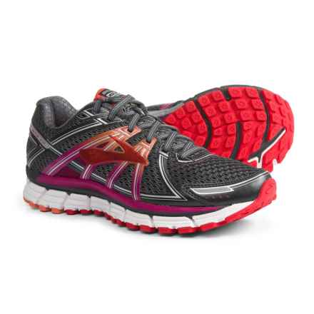 Brooks Adrenaline GTS 17 Running Shoes (For Women) in Anthracite/Festival Fuchsia/Bittersweet - Closeouts