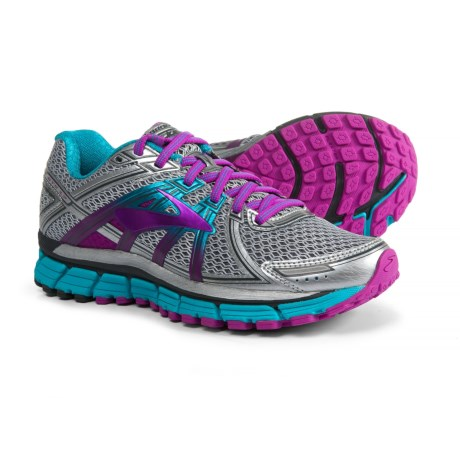 5b92cf7f4bf Brooks Adrenaline GTS 17 Running Shoes (For Women) in Silver Purple Cactus  Flower
