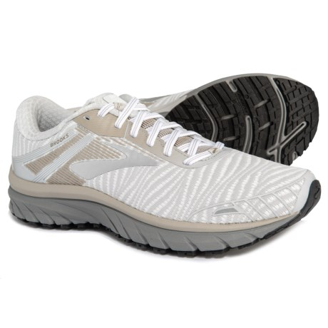 a5cbdea07ab58 Brooks Adrenaline GTS 18 Running Shoes (For Men) in White Grey Tan