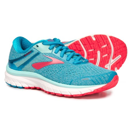 2c43698778850 Brooks Adrenaline GTS 18 Running Shoes (For Women) in Blue Mint Pink