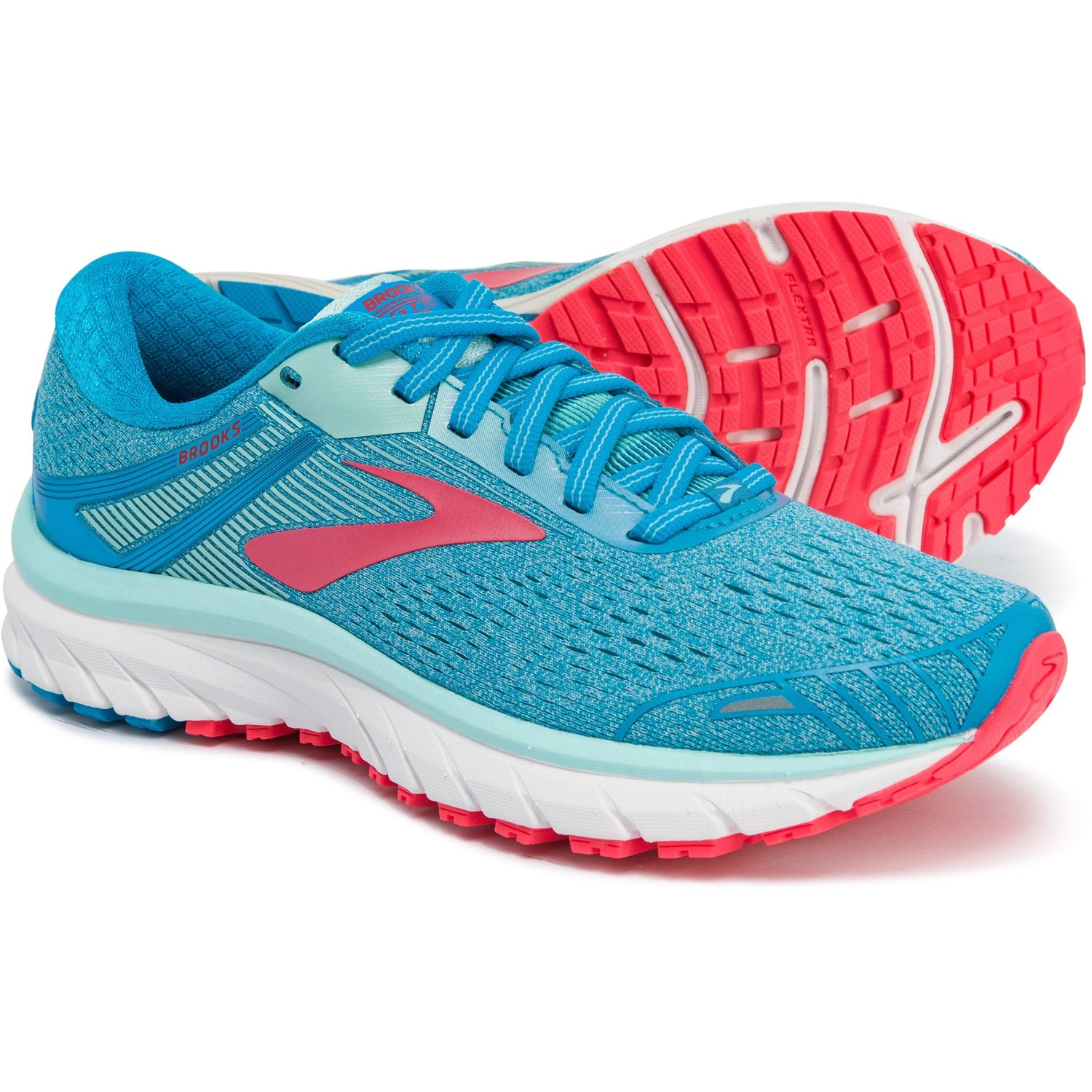7f6d59df04c55 Brooks Adrenaline GTS 18 Running Shoes (For Women) in Blue Mint Pink