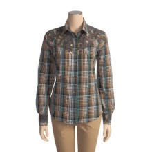 Brooks & Dunn by Panhandle Slim Plaid Shirt - Cotton, Long Sleeve (For Women) in Brown - Closeouts