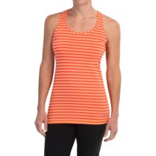 Brooks Bring It Tank Top - Racerback (For Women) in Creamsicle Stripe - Closeouts