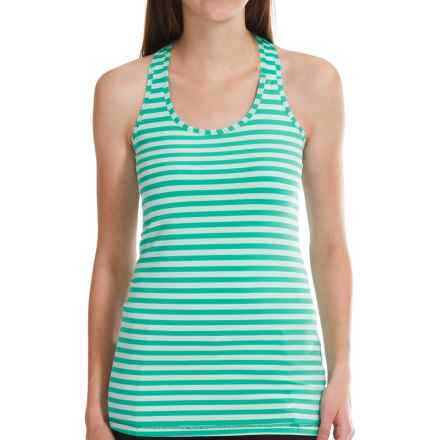 Brooks Bring It Tank Top - Racerback (For Women) in Glass Stripe - Closeouts