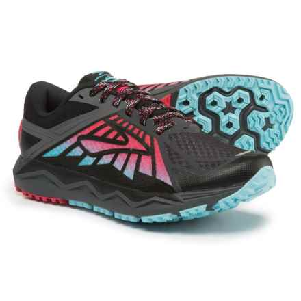 Brooks Caldera Trail Running Shoes (For Women) in Anthracite/Azalea/Black - Closeouts