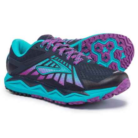 Brooks Caldera Trail Running Shoes (For Women) in Evening Blue/Teal Victory/Purple Cactus Flower - Closeouts