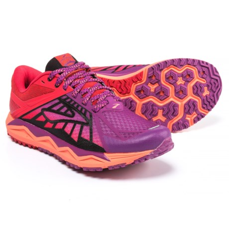 Brooks Caldera Trail Running Shoes (For Women) in Hollyhock/Lollipop/Black