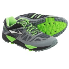 Brooks Cascadia 10 Trail Running Shoes (For Men) in Primer Grey/Black/Green Gecko - Closeouts