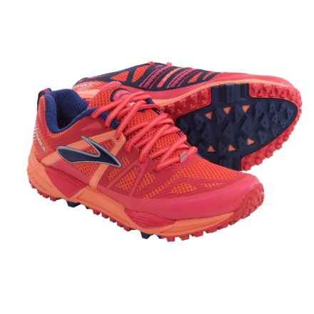 Brooks Cascadia 10 Trail Running Shoes (For Women) in Flamingo/Cream Sicle/Blue Print - Closeouts
