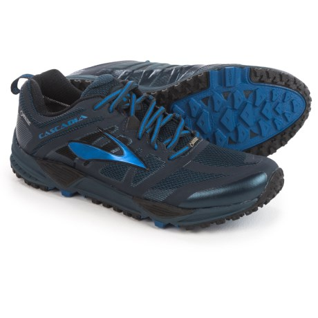 Brooks Cascadia 11 Gore-Tex® Trail Running Shoes - Waterproof (For Men) in Dress Blues/Electric Brooks Blue/Black