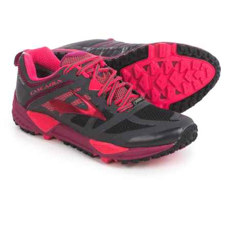 Brooks Cascadia 11 Gore-Tex® Trail Running Shoes - Waterproof (For Women) in Anthracite/Teaberry/Rasberry Radiance - Closeouts