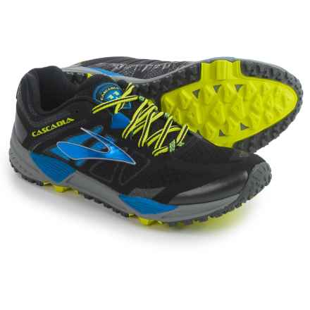 Brooks Cascadia 11 Trail Running Shoes (For Men) in Black/Electricblue/Nightlife - Closeouts