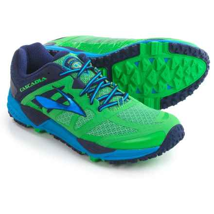 Brooks Cascadia 11 Trail Running Shoes (For Men) in Vibrant Green/Eclipse/Methyl B - Closeouts