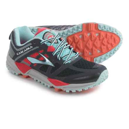 Brooks Cascadia 11 Trail Running Shoes (For Women) in Anthracite/Hibiscus/Crystal Blue - Closeouts