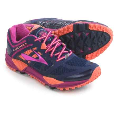 Brooks Cascadia 11 Trail Running Shoes (For Women) in Peacoat/Baton Rouge/Fusion Coral - Closeouts