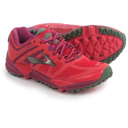 Brooks Cascadia 11 Trail Running Shoes (For Women) in Teaberry/Duck Green/Raspberry Radiance - Closeouts