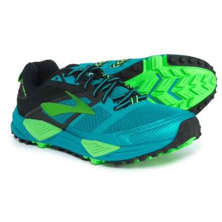 Brooks Cascadia 12 Trail Running Shoes (For Men) in Black/Turkish Tile/Andean Toucan - Closeouts