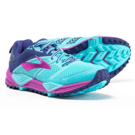 Brooks Cascadia 12 Trail Running Shoes (For Women) in Bluefish/Clematis Blue/Purple Cactus Flower - Closeouts