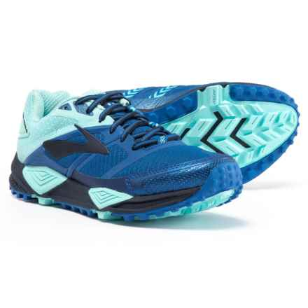 Brooks Cascadia 12 Trail Running Shoes (For Women) in Navy/Blue/Mint - Closeouts