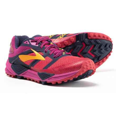 Brooks Cascadia 12 Trail Running Shoes (For Women) in Poppy Red/Peacoat/Baton Rouge - Closeouts