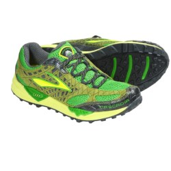 Brooks Cascadia 7 Trail Running Shoes (For Men) in Woodbine/Sulphur Spring/Speed Green/Anthracite/Sil